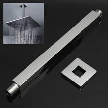 34cm Brass Bathroom Square Wall Mounted Shower Extension Arm For Rain Shower Head Extension Pipe Shower Arms