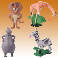 NEW Madagascar Movie Alex Gloria Marty Melman PVC Figure Toys Set of 4pcs Kids Action Figure Toys Robot
