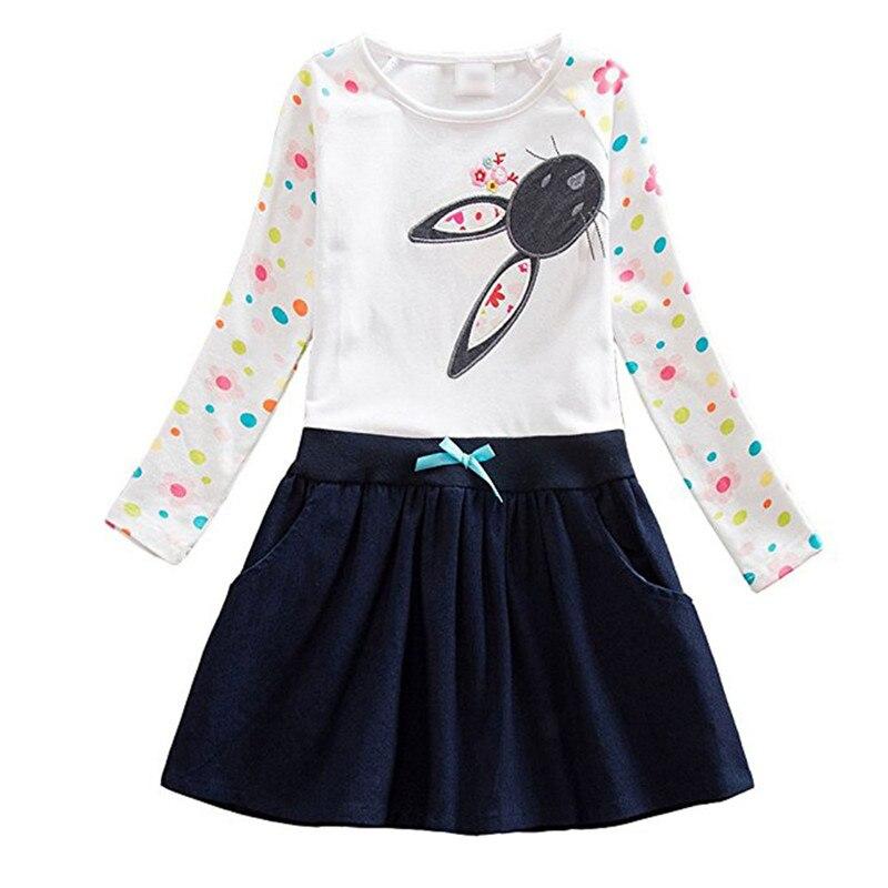Euramerican Cute Rabbit Bunny Baby Girl Dress  Polka Dot Bowtie Children Girls Clothing Long Sleeve Spring Summer Autumn Dress <br><br>Aliexpress