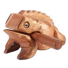 Thailand Traditional Craft Wooden Lucky Frog Art Figurines Decorative Miniatures Home Office Decor(China)