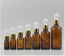 wholesale 50pcs 15 ml  amber glass round shape dropper container , 15ml essential oil glass bottle ,cosmetic dropper bottle