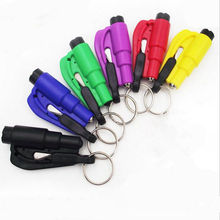 13pcs Glass Window Breaking Safety Hammer Emergency Escape Rescue Tool with Keychain Seat Belt Knife Cutter(China)