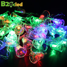 Holiday decoration led lamp 5.5 m 28 leds waterproof Garland Christmas lights outdoor Small bell string lights Colorful light(China)