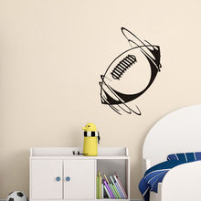 High Quality Wall Stickers Spinning Rugby Ball In Wind Vinyl Wall Decal Sport Removable Home Decor Art Sticker For Bedroom ZA392(China)