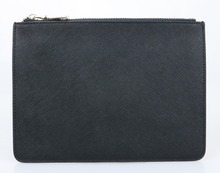 Limited Edition customed initial letters genuine saffiano cow leather pouch ladies clutch bag
