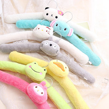 Bendable Cute Flannel Padded Carton Kids Hanger, Fuzzy Baby Hanger (10 Pieces/ Lot)(China)
