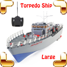 New Summer Gift Torpedo Boat 1/115 RC Large Boat Military Ship Electric Warship Toys Big Model Naval Vessel Machine