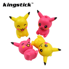 pokemon cheap 4gb 8gb Pen Drive Cartoon USB Flash Drive 16gb Pikachu USB Stick 32gb 64gb Pendrive Personal Gift U Disk gift(China)