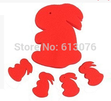 free shipping,Sponge rabbit (1lot =10set),Magic rabbit,Magic props,Magic tricks Set,Classic love magic(China)