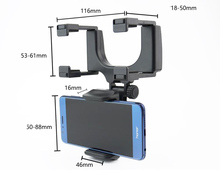 Rotary Car rearview mirror Mounts Mobile Phone Car Holders Stands Zopo Flash G5 Plus,Flash E,Speed 7 C 7 Plus,Speed 8