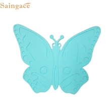 D3 High Quality Butterfly Silicone Waterproof Oil-proof Insulation Placemat