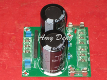High-end dual power rectifier filter 2 way outputs with fuse power amplifier board 2*10000UF/63V