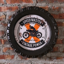 SPEED MASTER VINTAGE POWER Car Tires MDF Foaming Sign Vintage Wood Painting Cafe Bar Decor Retro Mural Poster Wall Sticker