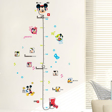 % Cartoon Mouse Minnie Mickey Measure Wall Stickers Decals Living room  Nursery Height Ruler Chart Room Decoration Poster Mural