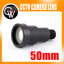 New 1/3'' 50mm lens 6.7 degree M12 CCTV MTV Board IR Lens for Security CCTV Video Cameras