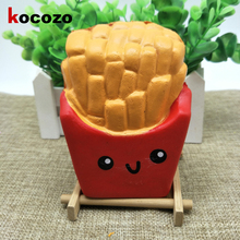 2017 New High Quality kawaii cute Jumbo 10CM French Fries Soft Scented Bread Cake Squishy Slow Rising Elasticity Stretch Kid Toy