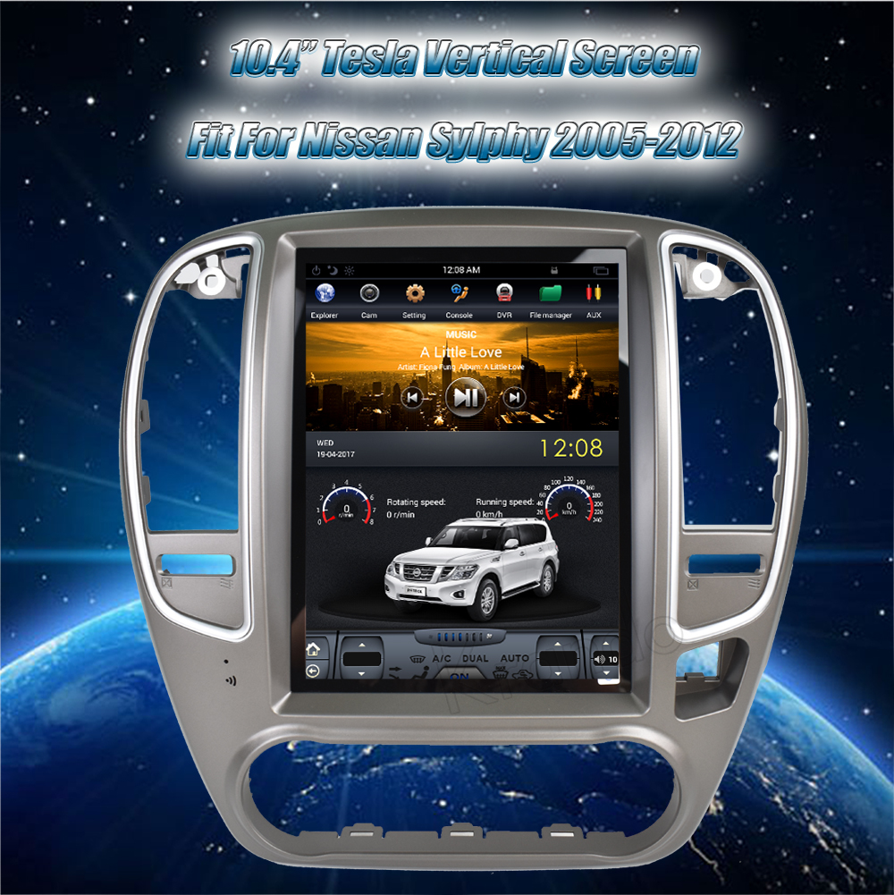 Krando tesla vertical screen android car stereo navigation system for nissan sylphy 2005-2012 car radio multimedia player with gps (6)