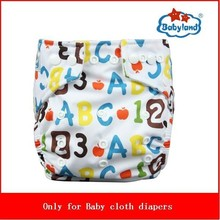50Sets Hot Sale Wholesale Washable Cloth Diaper Babyland New Pattern Nappy(China)