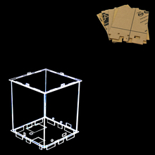 Size 12x12x h15 cm DIY 3D 8S mini LED Light Cubes Acrylic- note: box only with the use of our 3d8 mini cubes(China)