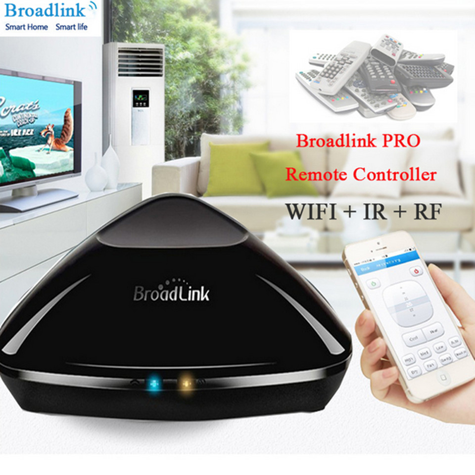 Broadlink RM2 RM PRO Intelligent Wireless Remote Controller Plug n Play Smart Home Automation WIFI+ IR+RF Switch Via IOS Android<br>