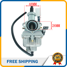 HK162 PZ26 Carburetor 26mm 125 150 cc Carb For HONDA CB125 XL125S TRX250 TRX 250EX Recon Carb 125cc ATV Dirt Bike Quad CRF XR100