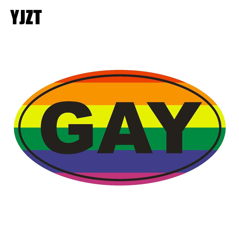 Humorous GAY PRIDE LOVE HEART STICKER Vinyl Sticker Novelty 15 cm x 15 cm