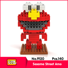 LOZ 9120 140Pcs Action Figure series Anime Sesame Street Amo Model Building Blocks Bricks Set Toys Compatible With