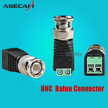 ASECAM High Qualit BNC Video Balun Connector Plug Adapter Mini Coax CAT5 To Security Camera For CCTV System Free shipping(China)