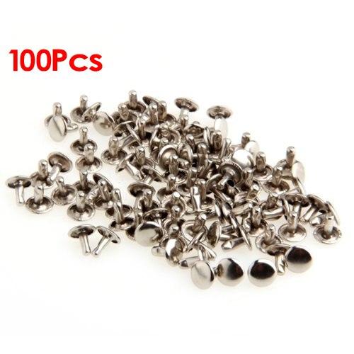 100 remaches decorativos tachuelas 9mm color plata aproximadamente-plano