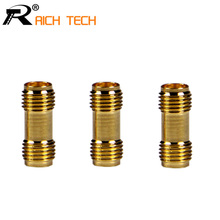 Golden Color High Quality RF Connector SMA Female to SMA Female For Two Way Radio SMA-F to SMA-F Antenna Adaptor 3pcs/lot