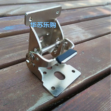 Accessories car modified 180 degree self-locking hinge buckle folding table legs furniture hinge connection(China)