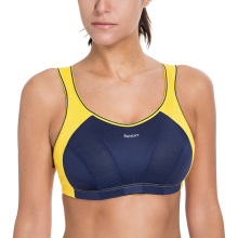 SYROKAN Women's High Impact Wire Free Non Padded Racerback Maximum Sports Bra