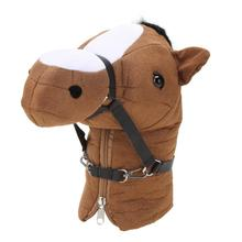33x30x10cm Animal Pony Brassie Head Guard Cover Golf Club Wood Head Protective Cover Golf Clubs Head Covers Golf Accessories(China)