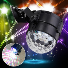 Voice Activated Stage Light Show Mini Disco Crystal Magic Ball Club KTV Wedding Show Car Pub Disco DJ Lighting 6 Color LED  A391
