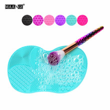 Newest Silicone brush cleaner Cosmetic Make Up Washing Brush Gel Cleaning Mat Foundation Makeup Brush Cleaner Pad Scrubbe Board