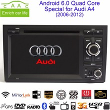 "Android 6.0 Quad Core 1024*600 GPS Navigation 7"" Car DVD Player for Audi A4 2006-2012 with Bluetooth/RDS/Radio/Canbus/Mirrorlink"