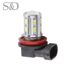 H11 Led High Power 12 SMD 5730 5W Cree Chips LED Xenon white Turn Signal Lights led car Bulbs car light source Fog lamp