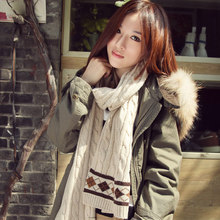Ms wool scarf in the spring and autumn winter warm long wool scarf male thickening shawl with the joker