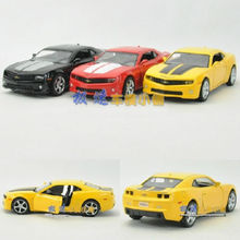 Candice guo alloy car model cool 1:36 mini Camaro collection toy vehicle motor bumblebee kid birthday gift christmas present 1pc