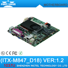 Mini Itx industrial motherboard Intel 1037U / 6COM/ Dual 24 bits LVDS/DC12V Power/ POS Machine industrial Mini ITX-M847_D18(China)
