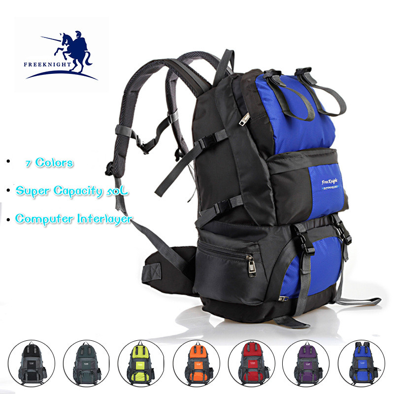 50L Ultra Capacity Unisex Outdoor Waterproof Nylon Tactical Backpacks for Women Climbing&amp;Hiking Sport bags 5 Colors Men Backpack<br>