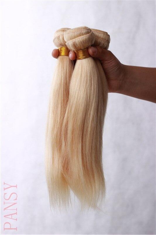 Bleach Blond Brazilian Hair Straight 3Pcs/Lots Brazilian Human Virgin Blond Hair Extensions Weave 10-28 Color 613 Hair Weaving<br><br>Aliexpress