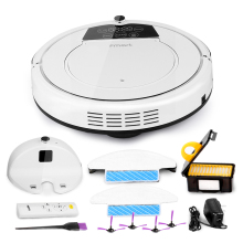Fmart Robot Vacuum Cleaner Wet and Dry Water Tank Sweep Mop Side Brush Robot Aspirador Carpet Cleaner Vacuum Cleaners E-R550W(S)