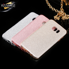 KISSCASE Glitter Bling Case for Samsung Galaxy S7 S7 Edge High Quality PC TPU Deluxe Cover Accessories for Galaxy S7 S7 Edge