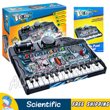 38 Piano Lab Scientific Set Brain Physics Science Kits Experiment Electronics Discovery Toys Building DIY Educational(China)