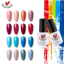 Gelfavor 62 Colors Nail Gel Polish Soak Off UV LED Gel Polish Pure Color of Nude Red Blue Grey Series  Gel Nail Polish