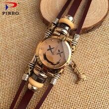 Оригинальный дизайн PINBO мода браслет часы высокого качества кожа кварцевые colock часы P18 женские наручные часы reloj mujer