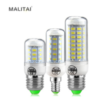 1Pcs Real Long Lifespan Health LED Corn lamp E27 E14 220V 24 -72 LEDs Spotlight bulb with SMART IC Driver Power light(China)