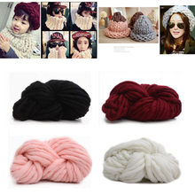 Fashion DY Hand Knitting Blanket Hats Super Thick Chunky Yarn Roving Bulky Yarn Super Big Knit Woolen Yarn 250g per lot(China)