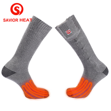 Savior heat 3.7V 3000mAh lithium battery heated sock winter warm Cotton spandex material knitting outdoors use men and women hot(China)